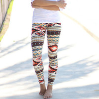 Aztec Elastic Pants Tight Pants Leggings Slim Leggings Women Gift-56