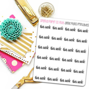 This Week Planner Stickers (matte removable)