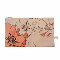 "Alison Coxon ""Painted Wild Roses"" Coral Floral Everything Bag"