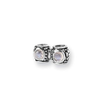 Sterling Silver and CZ Floral Connector Bead Charm