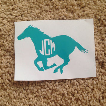 Horse Vinyl Monogram Decal Sticker Personalized