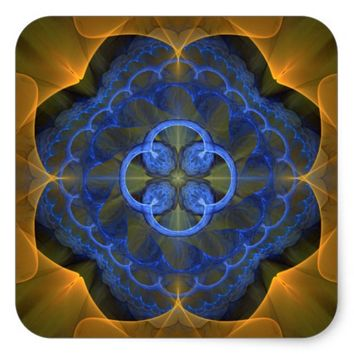 Sacred Geometry Square Sticker