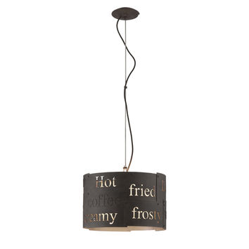 Troy F4088 Dine N Dash Salvaged Rust and Parisian Four Light Pendant