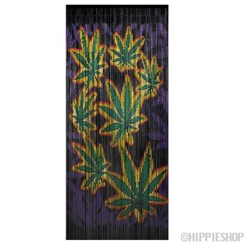 Bamboo Legalize It! Pot Leaves Door Beads on Sale for $39.99 at HippieShop.com