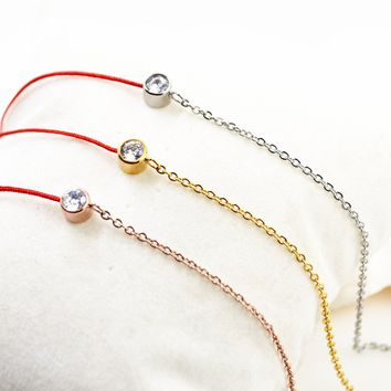 Shiny Cute New Arrival Gift Sexy Stylish Jewelry Ladies Titanium Simple Design Anklet [11030793031]