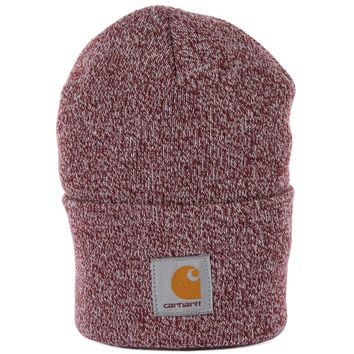 Carhartt Watch Hat - Burgundy Marl at Urban Industry
