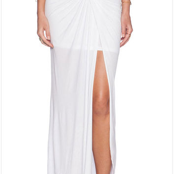 High Waist Long White Tulle Skirt With Split Floor Length Tulle Maxi Skirt  Style Long Maxi Skirts For Wo SM6