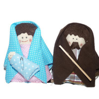 Holy Family Nativity / Felt Christmas Ornaments / Textil Christmas decor / Fabric natavity scene / Christmas Gift / Christmas Crib