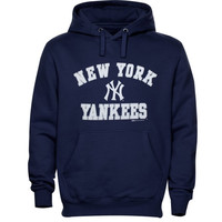 New York Yankees Stitches Male Fleece Pullover Hoodie – Navy Blue