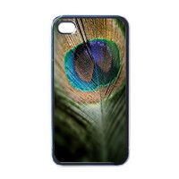 Peacock Feather iPhone 4 Case Hard Plastic Cover by eClonTroop