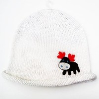 Cute Baby Beanie Hat 0-6m Soft Luxurious Cotton Knit - Canadianana: Moose