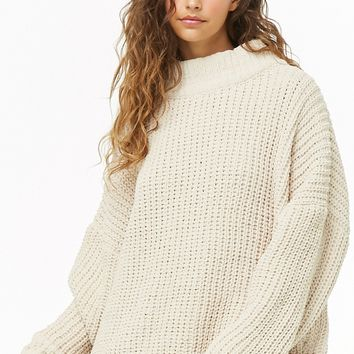 Oversized Ribbed Knit Sweater
