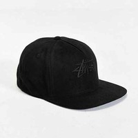 Stussy Stock Suede Snapback Hat- Black One