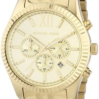 Michael Kors MK8281 Lexington Gold-Tone Stainless Steel Watch