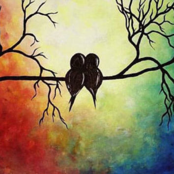 Best Love Bird Painting Products On Wanelo