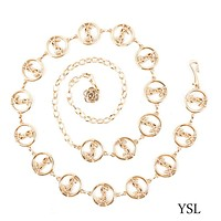 YSL wild small belt decorative chain belt decoration dress accessories Gold