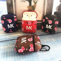 MK Tide brand personalized floral print airpods protective cover