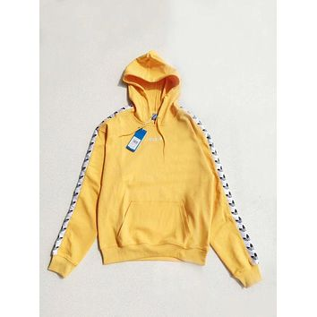 adidas Originals Tnt Tape Pullover Hoodie - Yellow