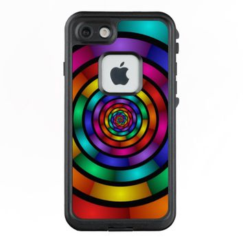 Round and Psychedelic Colorful Modern Fractal Art LifeProof® FRĒ® iPhone 7 Case