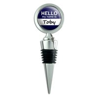 Toby Hello My Name Is Wine Bottle Stopper