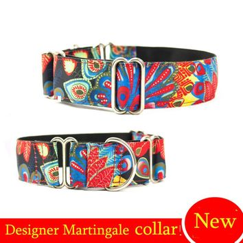 NEW Personalized Fabric Super Strong Durable Reef Dog Collar Martingale Collar for Large dog