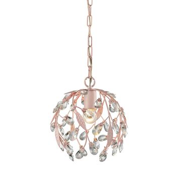 Circeo 1 Light Pendant In Light Pink