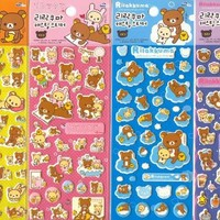 Rilakkuma Puffy Sticker - A Set of 4 Sheets - #40044