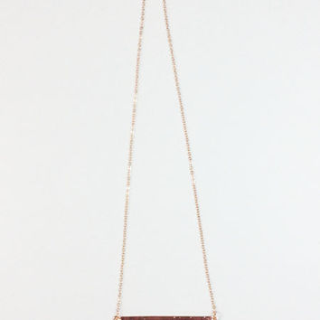 Julia Copper Bar Necklace