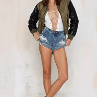 One TeaspoonBandit Distressed Cutoffs - Husk