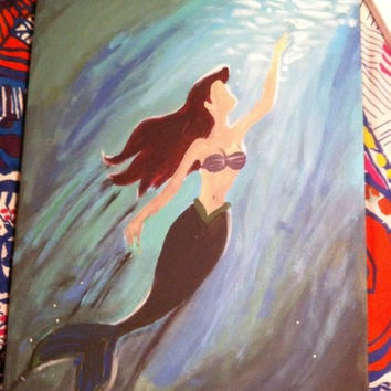 Disney The Little Mermaid Ariel inspired 16x20 Canvas Painting