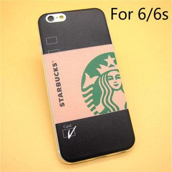 ac NOOW2 Fashion Starbuck Coffee TPU Slim Back Skin Ultra Thin Soft Phone Case Shell For iPhone 6/6s