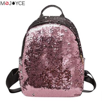 School Backpack trendy 2018 New Glitter Sequins Backpack Teenage Girls bolsos mujer Fashion Bling Rucksack Students School Bag mochila feminina AT_54_4
