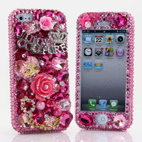 Beautiful Swarovski Crystal Bling Phone Case -- Juicy Couture Statement Phone Case