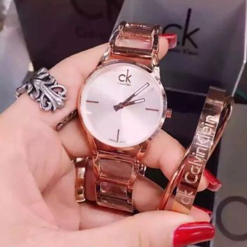"""CK"" Women Fashion Simple Quartz Watch Casual Wristwatch"