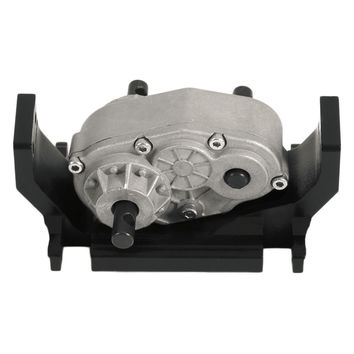 Professional 73mm CNC Aluminum Transfer Case with Mount Holder for SCX10 D90 RC4WD 1:10 RC Crawler Transfer Case