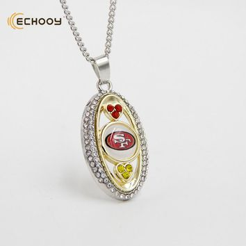 woman classic jewelry Personalized San Francisco 49ers Pendant Necklaces Custom football team logo necklace Bridesmaid Gift