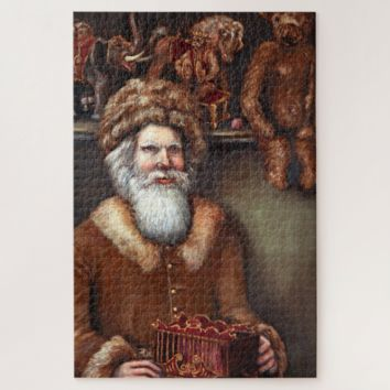Christmas Jigsaw Puzzle - Victorian Santa in his Toy Shop