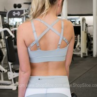 Athletic Sports Bra | Soft Blue