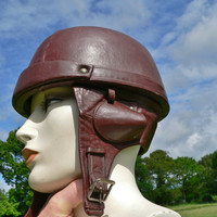 Vintage French 1930's leather motorcycle helmet