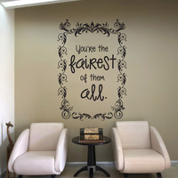 Vinyl Wall Decal Sticker Mirror Mirror on the Wall #OS_DC619