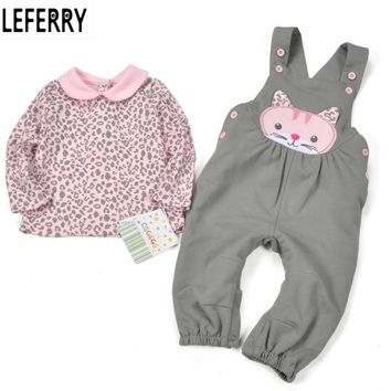 Baby Girl Clothes Sets Baby Girl Clothing Infant Newborn Baby Kleding Kids Clothes 2016 New Autumn T shirt + Overalls Cotton