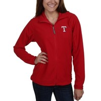 Antigua Texas Rangers Ladies Ice Full Zip Jacket - Red