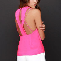Let Me X-plain Hot Pink Top