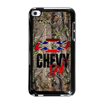 CAMO BROWNING REBEL CHEVY GIRL iPod Touch 4 Case Cover