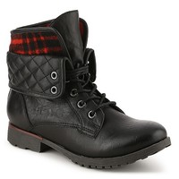 Rock & Candy Spraypaint Quilted Combat Boot