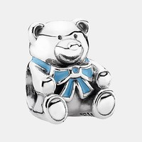 Women's PANDORA 'It's a Boy' Charm - Silver/ Blue Enamel