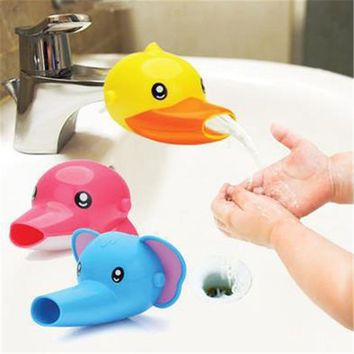 1PCS Cute Cartoon Bathroom Sink Faucet Extender For Kid Children
