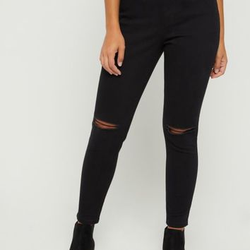 Black Xtra High Rise Ankle Jegging in Curvy