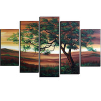 Essence of Nature's Green Beauty Landscape Canvas Wall Art Oil Painting