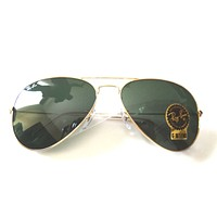 Cheap New Authentic Ray Ban RB3026 L2846 62mm Green Classic G-15 Lenses, Gold Frame outlet